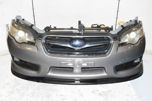 Used Subaru Legacy GT Spec-B GTB BP9 Rad Support with Bumper Cover, HID Headlights, Foglights with Mesh Style Bezels & JDM STi Lip
