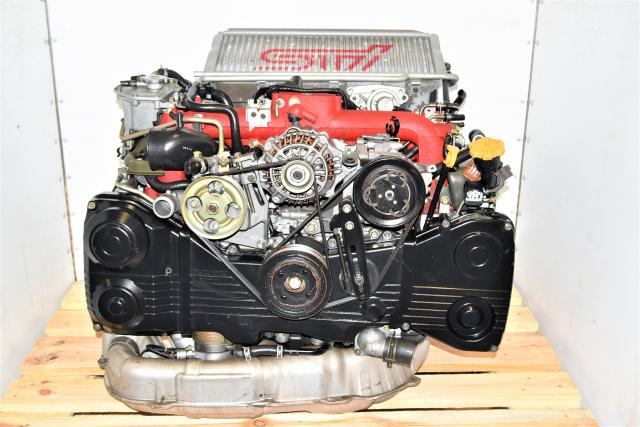 Used Subaru Version 8 STi Twin Scroll EJ207 DOHC AVCS 2.0L JDM Replacement Engine Swap with Intercooler