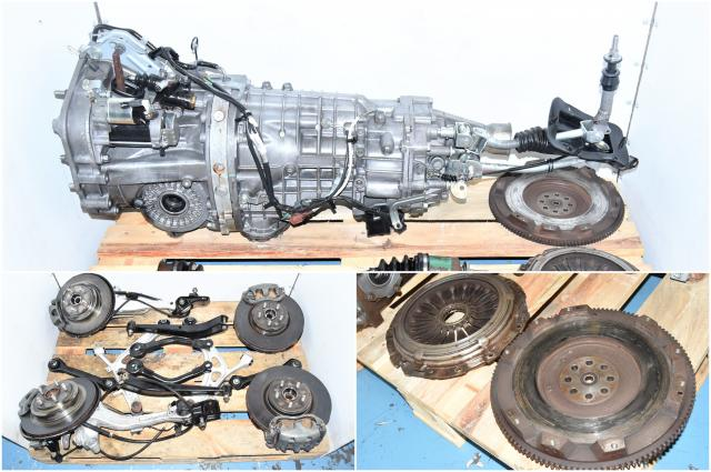 Used Subaru Legacy Spec B STi 6-Speed TY856WBEAA Transmission with Rear Differential 3.54, Control Arms & Axles