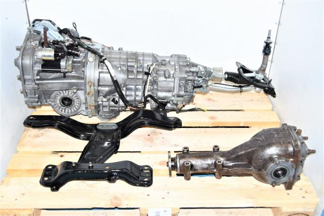 Used Subaru Legacy Spec-B 6-Speed JDM Transmission with Crossmember & R180 Rear Differential for Sale