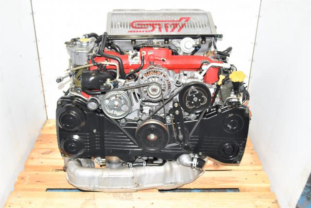 Used Twin Scroll JDM GDB Drive by Cable Version 9 STi EJ207 2.0L Engine for Sale with Intercooler