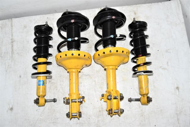 Used Subaru JDM Legacy GT / OB XT Replacement Front & Rear Bilstein Yellow Suspensions 04-09