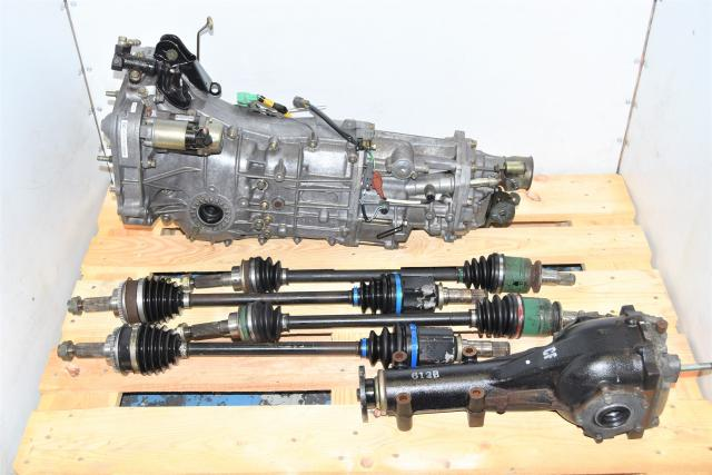 Used Subaru 5 Speed Manual JDM LGT, WRX, Forester Transmission with 4.444 Rear Differential & Axles