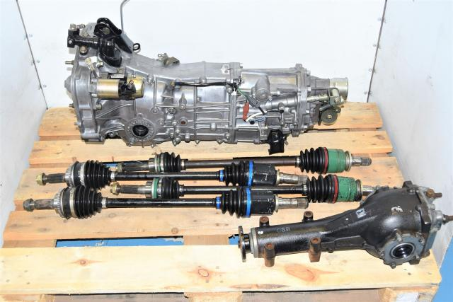 Used JDM WRX & LGT 4.444 5-Speed Transmission with Matching Rear LSD & Axles for Sale 06+
