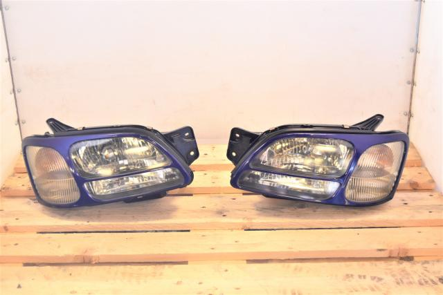 Used Subaru Legacy JDM BH5 BE5 Complete Headlight Zenki Style Assembly