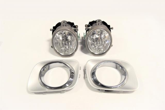 Used Subaru Forester SG5 2003-3005 114-20759 Fog Lights with Bezels for Sale