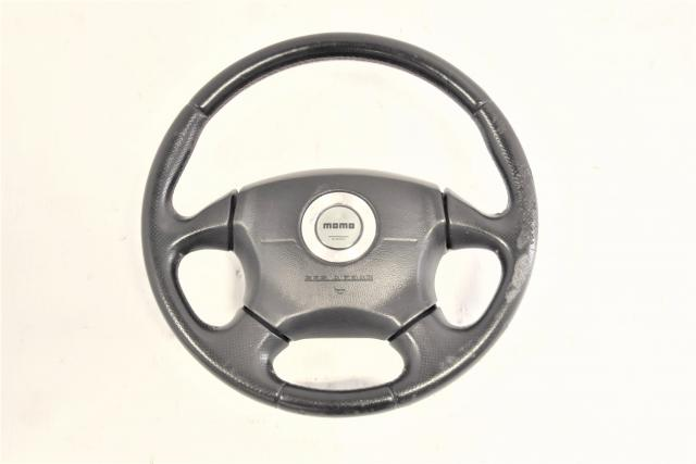 Used JDM Momo Version 7 GDB WRX STi 2002-2003 Steering Wheel Assembly for Sale