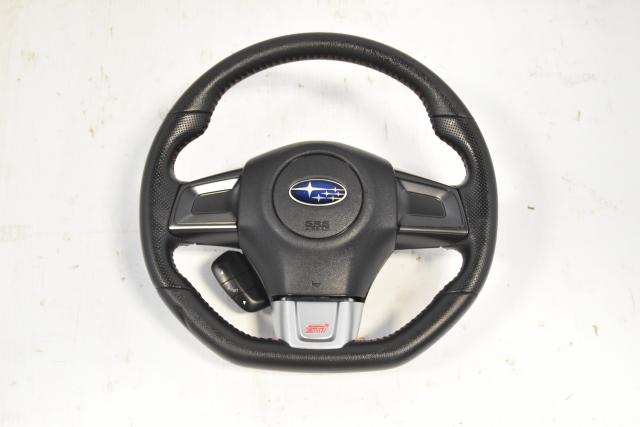 Used JDM Subaru VA STi 2015+ Steering Wheel Assembly for Sale with Electronic Dash Control Options