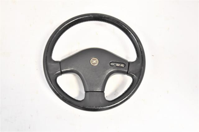Used JDM Nissan 300ZX 90-96 OEM Steering Wheel Assembly Z32 with Cruise Functions for Sale