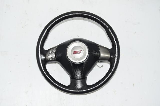 Used Subaru GR STi JDM 2008-2014 Steering Wheel with Infotainment Unit Controls