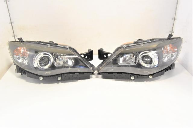 Used Subaru GR GV 2008-2014 STi HID JDM Black Housing Left & Right Headlights for Sale