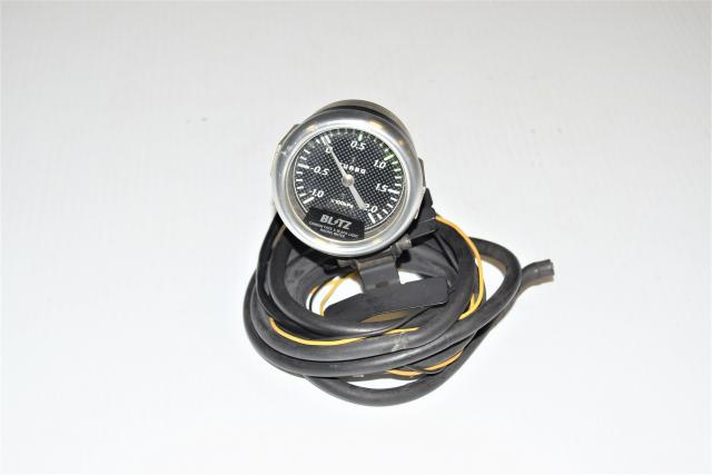 Used JDM BLITZ Carbonfiber Style 2Bar 52mm Boost Gauge for Sale