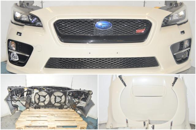 Used Subaru JDM VA STi 2015-2017 Pre-facelift model Nose cut with Blackhousing headlights, Hood, Grille, Front Bumper, Fenders & Rad Support for Sale