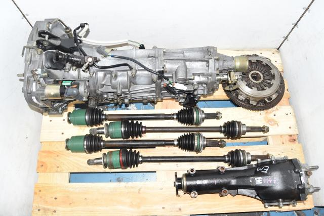 Used JDM WRX 2002-2005 Replacement 5-Speed Manual Transmission with 4.444 Rear LSD, Axles & Clutch Assembly