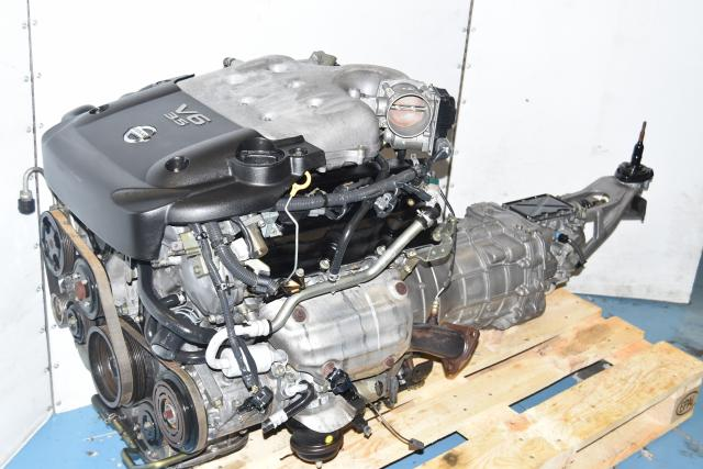 Used JDM VQ35DE Nissan V6 2003-2006 Pathfinder, Infiniti G35, 350Z Engine Swap with 6-Speed Transmission 6 Cylinder Motor For Sale Japanese engines import jdm engines VQ35 DE for sale