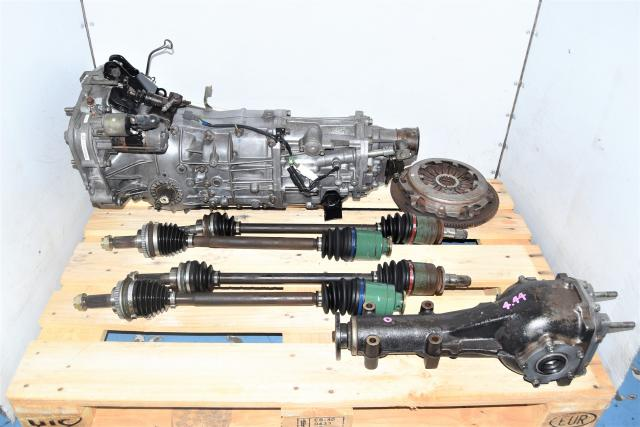 WRX Used 5-Speed Manual JDM Transmission Swap with Axles, Clutch & Rear 4.444 Differential