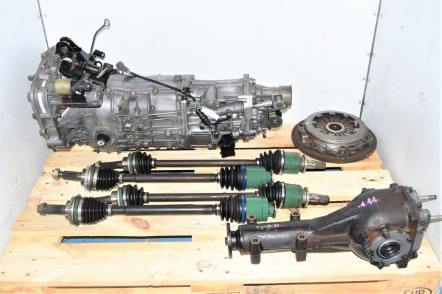 Subaru 4.444 Gear Ratio JDM WRX 5-Speed Transmission with Matching Rear Differential & GD Axles