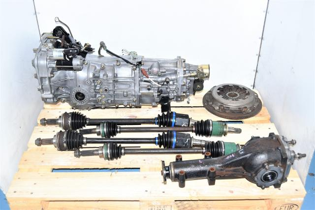 Used Subaru WRX 2.0L Manual 5-Speed JDM Transmission with Axles, Clutch & Rear 4.444 LSD