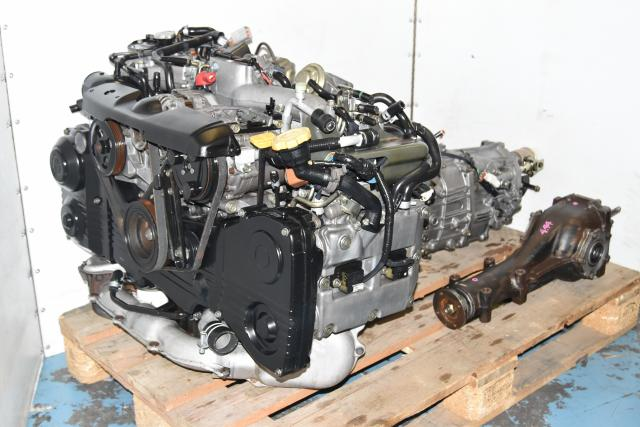 Used Subaru JDM WRX 2002-2005 AVCS DOHC Engine with TD04 Turbo & 4.444 5-Speed Transmission, Rear Differential & Axles for Sale