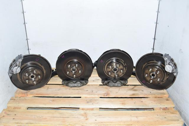 5x100 Used Subaru WRX 2002-2005 4 Pot / 2 Pot Complete Brake Assembly for Sale