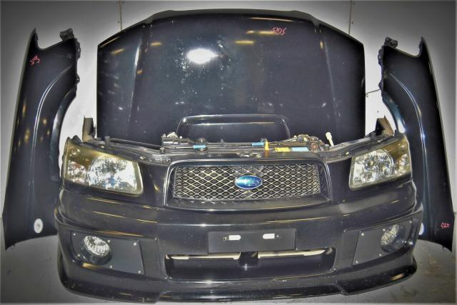 Used Subaru Forester 2003-2005 SG5 XT Nose Cut with Fenders, Foglights, Headlights & Rear Bumper for Sale