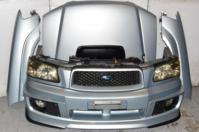 Used JDM SG5 Forester XT 2003-2005 Replacement Nose Cut with Hood, Fenders, Headlights, Foglights, Sideskirts, Rear Bumper & Hatch Spoiler