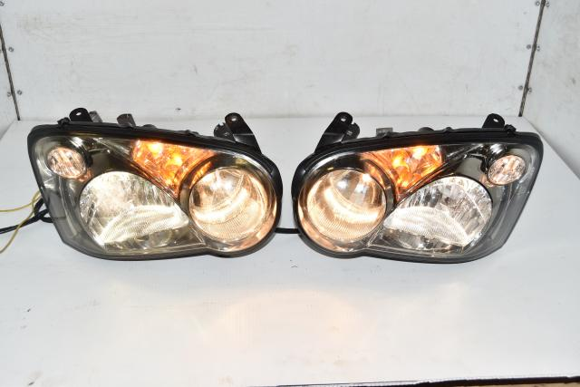 Used JDM Subaru WRX STi 2004-2005 HID Version 8 Left & Right Headlight Assembly for Sale