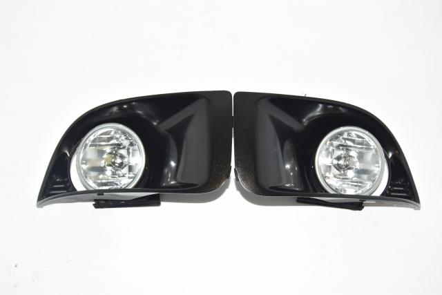 Used JDM Version 8 WRX STi 2004-2005 Front Foglight Covers & Bezel Trim for Sale