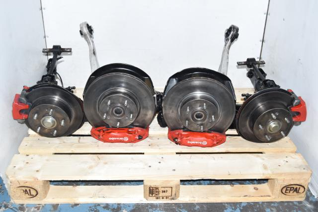Used Honda K20A Red DC5 Complete Brembo Brake Kit Assembly for Sale 2002-2006