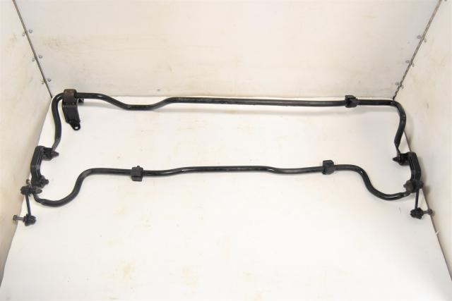 Used JDM Subaru GC8 STi Type-RA OEM 1999 Front & Rear Sway Bar Assembly for Sale