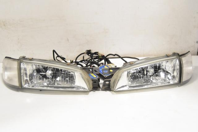 Used OEM Subaru GC8 Type-RA STi 1999 Facelift JDM Front Left & Right HID Headlight Assembly for Sale