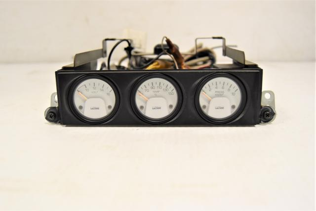 Used OEM Subaru GC8 STi Type-RA LAMCO Interior Triple Gauge, Volt, Temp & Turbo Meter Assembly