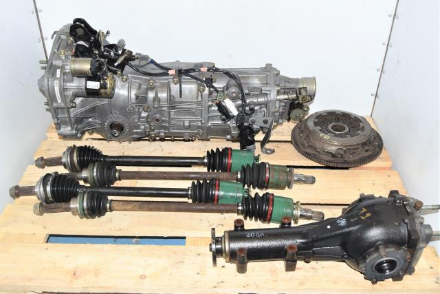 Used JDM Subaru WRX 5-Speed Manual 2002-2005 Transmission Swap with Matching 4.11 Rear Differential, Axles & Clutch