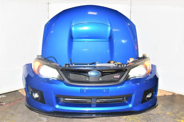 Used Subaru GR STi 2008-2014 JDM Blue Nose Cut with Aluminum Radiator, HID Headlights, Hood, Fenders, Foglights & STi Lip