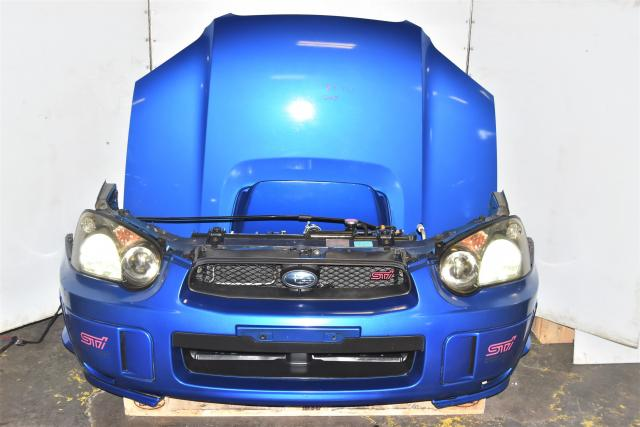 Used JDM Version 8 STi 2004-2005 Blobeye WRB Nose Cut Conversion with Rad Support, HID Headlights, Fenders, Hood & Foglight Covers