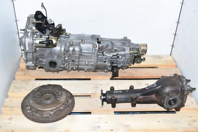 Used Subaru WRX 2002-2005 Replacement JDM 4.444 Gear Ratio 5-Speed Manual Transmission with Matching Rear LSD