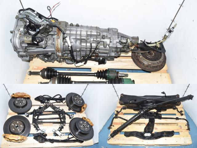 Used JDM Version 7 GDB STi 2002-2007 Non-DCCD 6-Speed Transmission with 5x100 Hubs, Brembos, Driveshaft, Aluminum Control Arms & Rear Subframe