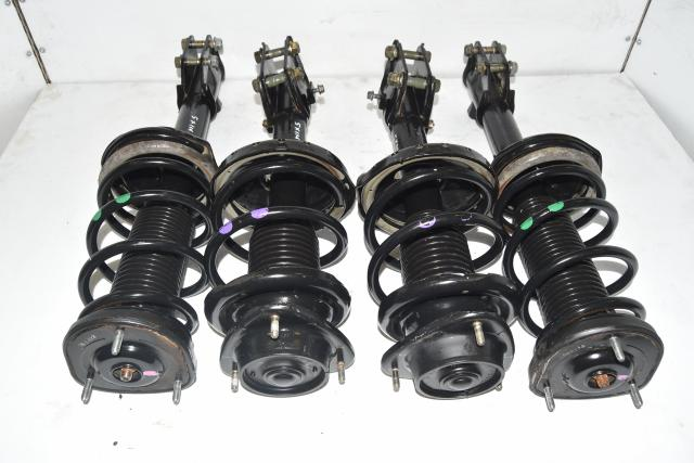 Used JDM 5x114.3 STi Replacement OEM Front & Rear Shock Absorber Kit for Sale