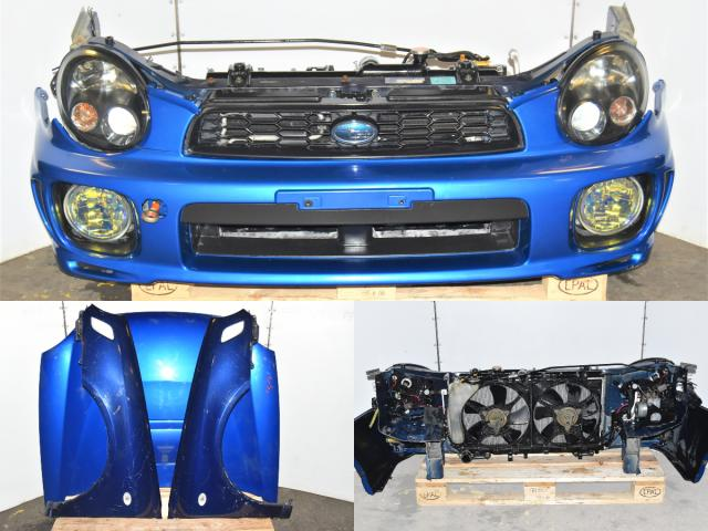 2002-2003 GGB Wagon STi Version 7 Bugeye Nose Cut with Fenders, Hood, HID Headlights (Aftermarket Ballasts), JDM Foglights & Radiator Support