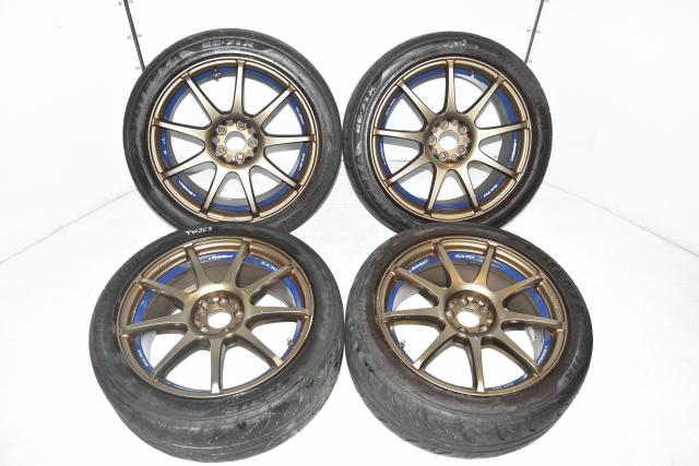 Used JDM 5x100 WedsSport SA70 17x7.5J ST202 4-Corner Rims for Sale with +45 Offset