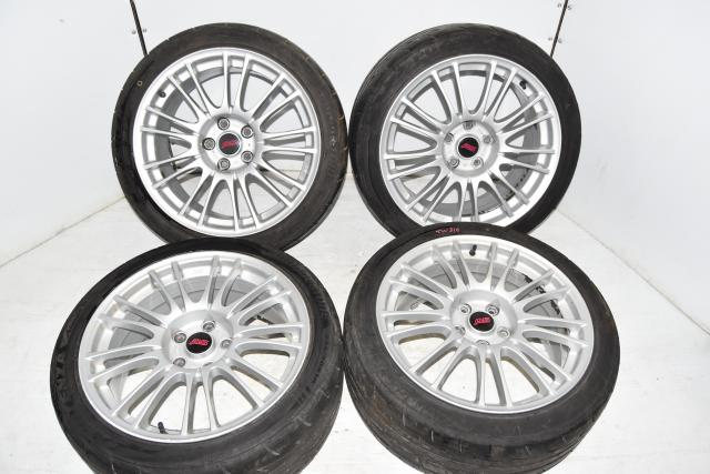 Used JDM Silver BBS GR STi 2008-2014 Forged 18x8.5J Subaru +55 Offset Mags