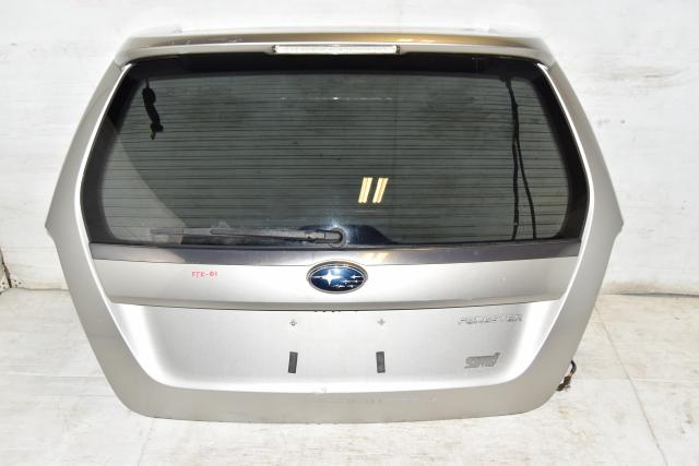 Used JDM Subaru Forester STi XT 03-08 SG5 SG9 Replacement Silver Hatch / Trunk with Spoiler