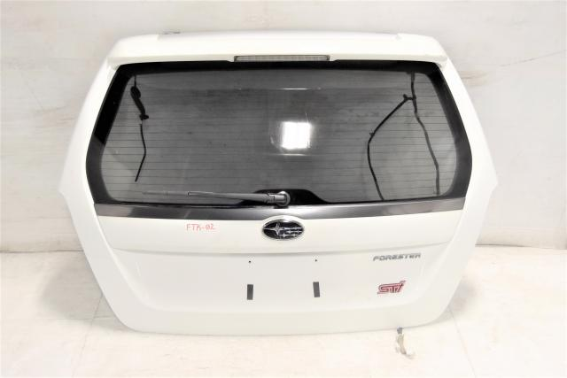 SG5 JDM Subaru Forester STi White OEM 03-08 XT Replacement Trunk with Spoiler for Sale