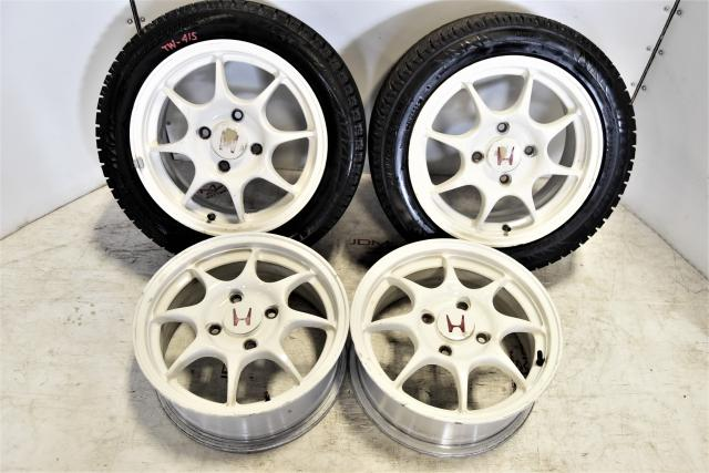 Used JDM DC2 Integra 4x114.3 15x6JJ Replacement OEM 96-97 ET50 Honda Mags