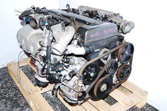 JDM TOYOTA 2JZ GTE FRONT OIL PAN ENGINE BLOCK, 2JZ TURBO MOTOR, TOYOTA ARISTO