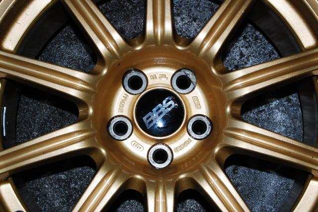 JDM WRX STI FORGED BBS 5x100 GOLD WHEELS WITH TIRES  225/45/R17