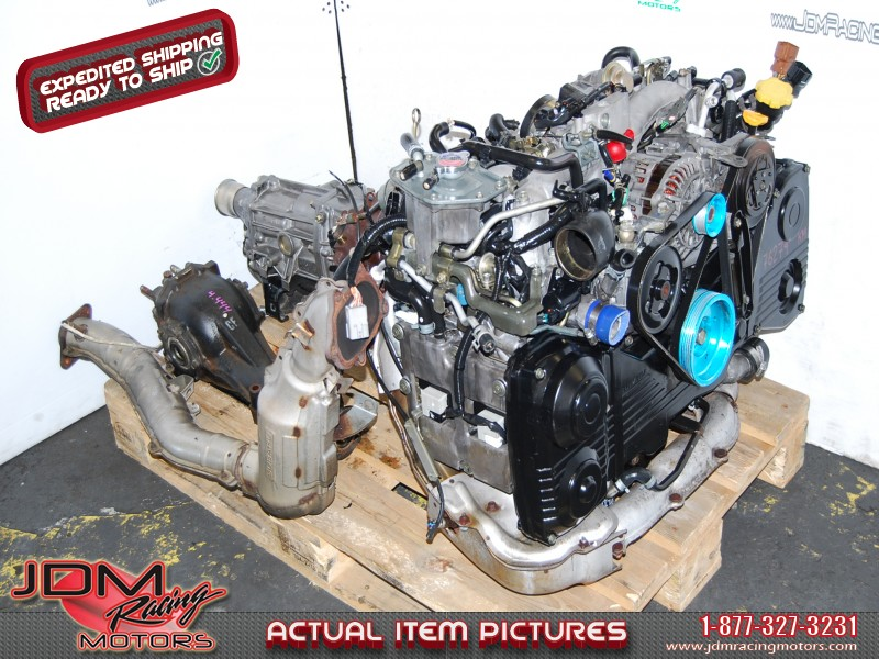 USED JDM EJ205 AVCS Engine 5 Speed transmission & 4 444 Diff package