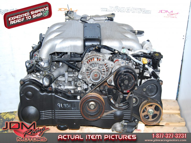 Subaru SVX 1992-1997 EG33 Motor, Twin Throttle H6 DOHC 3 3L Engine