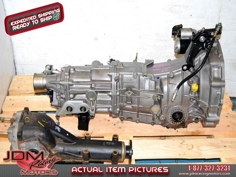 Subaru WRX 2008-2009 TY758VW1AA 5MT Replacement, JDM Push Type 5 Speed  Transmission with 4 11 LSD Differential