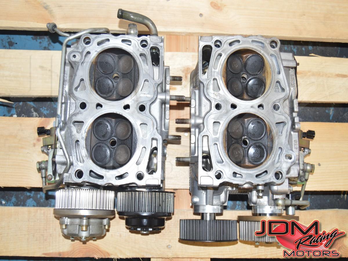 Set of JDM STI V8 AVCS EJ207 Complete Cylinder Heads Cam Shaft Cam Gears  Valves Springs Caps